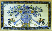 Tile Mural blue Design